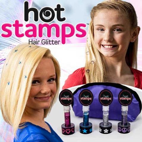 Trblietavá pečiatky na vlasy Hot Stamps