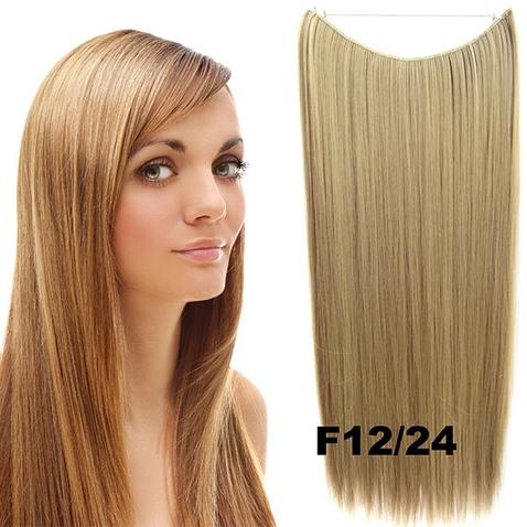 Flip in vlasy - 55 cm dlhý pás vlasov - odtieň F12/24