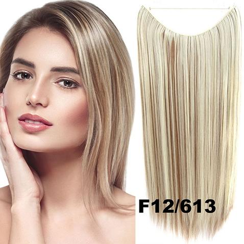 Flip in vlasy - 55 cm dlhý pás vlasov - odtieň F12/613