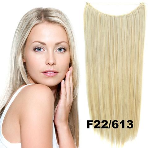 Flip in vlasy - 55 cm dlhý pás vlasov - odtieň F22/613