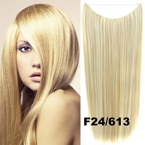 Flip in vlasy - 55 cm dlhý pás vlasov - odtieň F24/613
