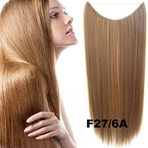 Flip in vlasy - 55 cm dlhý pás vlasov - odtieň F27/6A