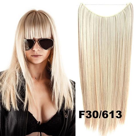 Flip in vlasy - 55 cm dlhý pás vlasov - odtieň F30/613