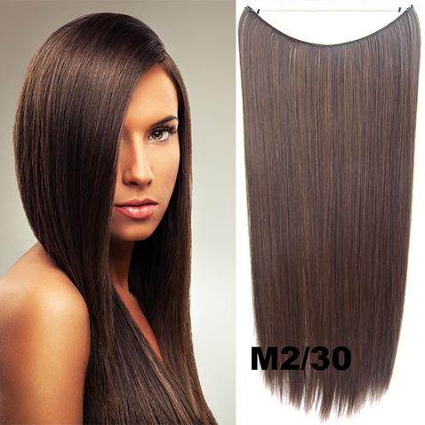 Flip in vlasy - 55 cm dlhý pás vlasov - odtieň M2/30