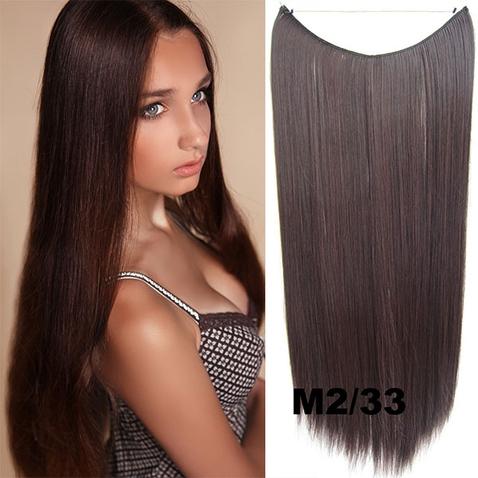 Flip in vlasy - 55 cm dlhý pás vlasov - odtieň M2/33