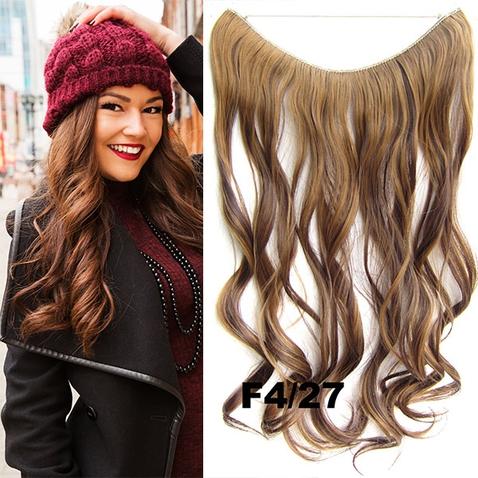 Flip in vlasy - vlnitý pás vlasov - odtieň F4/27