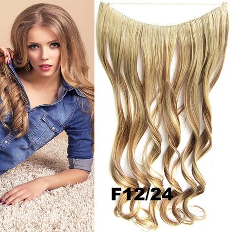 Flip in vlasy - vlnitý pás vlasov - odtieň F12/24