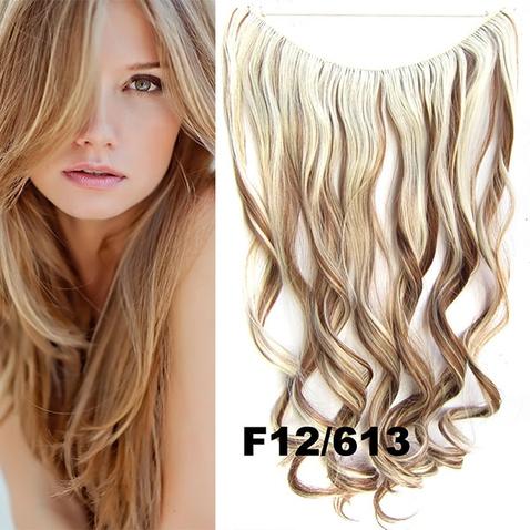 Flip in vlasy - vlnitý pás vlasov - odtieň F12/613