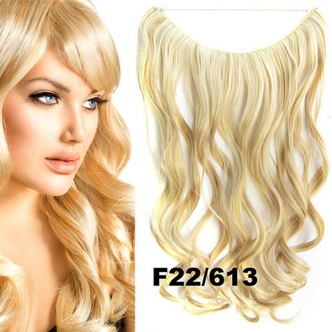 Flip in vlasy - vlnitý pás vlasov - odtieň F22/613
