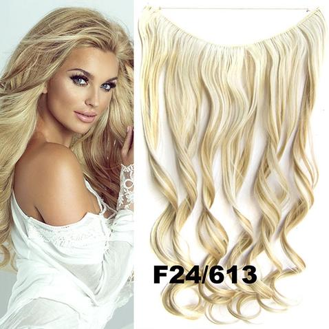 Flip in vlasy - vlnitý pás vlasov - odtieň F24/613