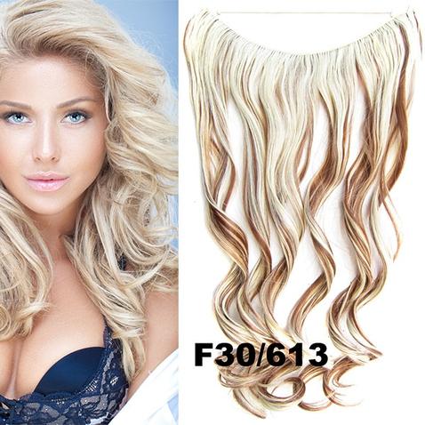 Flip in vlasy - vlnitý pás vlasov - odtieň F30/613
