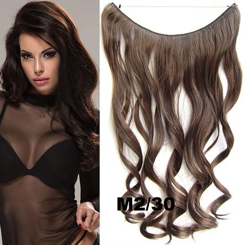 Flip in vlasy - vlnitý pás vlasov - odtieň M2/30