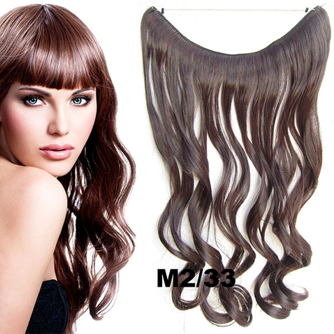 Flip in vlasy - vlnitý pás vlasov - odtieň M2/33