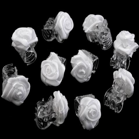 Štipec do vlasov s ružičkou