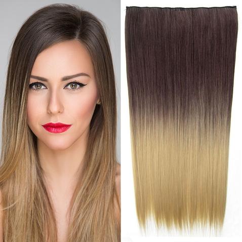 Clip in vlasy - rovný pás - ombre - odtieň 4 T 24