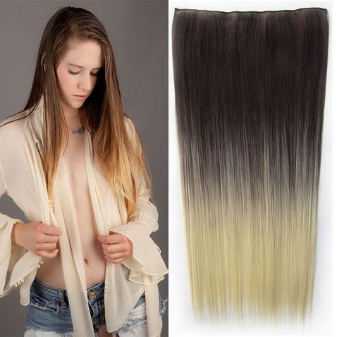 Clip in vlasy - rovný pás - ombre - odtieň 4 T 613