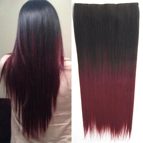 Clip in vlasy - rovný pás - ombre - odtieň 2 T 99J