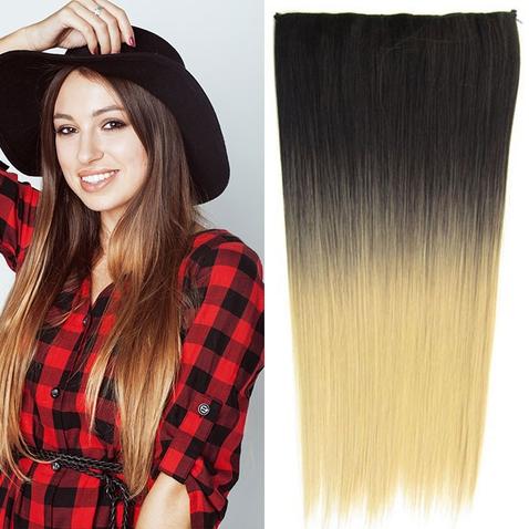 Clip in vlasy - rovný pás - ombre - odtieň 2 T 22