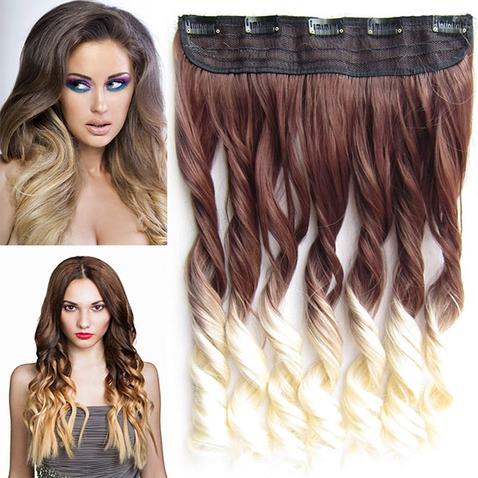 Clip in vlasy - pás, lokne - ombre - odtieň 6 T 613