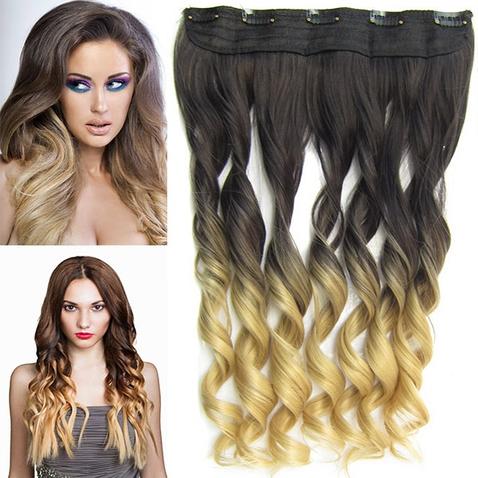Clip in vlasy - pás, lokne - ombre - odtieň 2 T 22