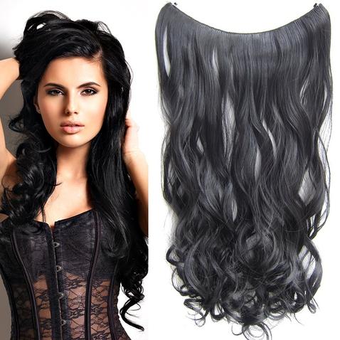 Flip in vlasy - vlnitý pás vlasov 55 cm - odtieň 1B