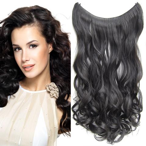 Flip in vlasy - vlnitý pás vlasov 55 cm - odtieň 2
