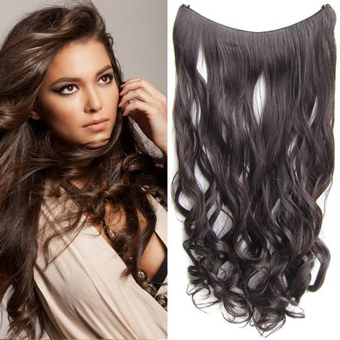 Flip in vlasy - vlnitý pás vlasov 55 cm - odtieň 6