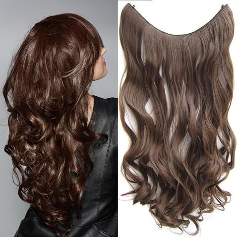 Flip in vlasy - vlnitý pás vlasov 55 cm - odtieň 8