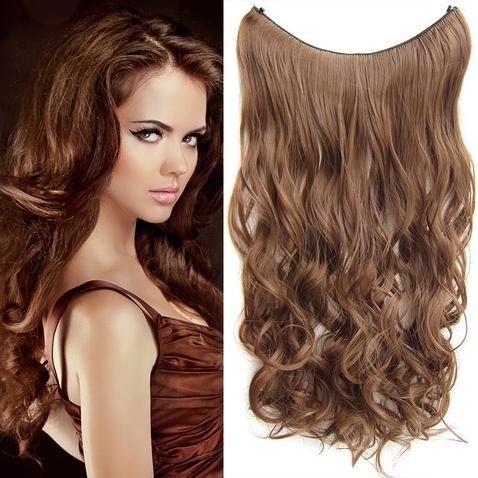 Flip in vlasy - vlnitý pás vlasov 55 cm - odtieň 12