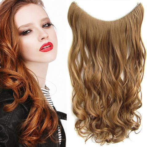 Flip in vlasy - vlnitý pás vlasov 55 cm - odtieň 27