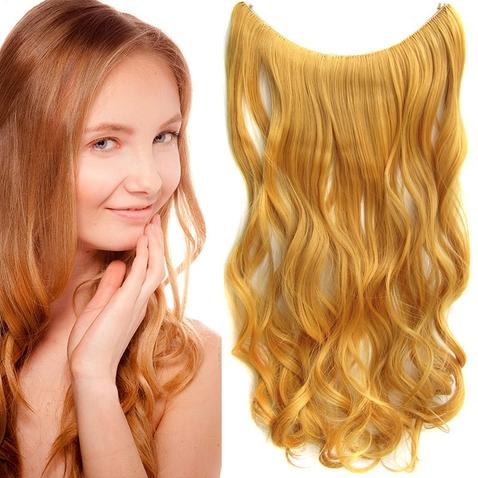 Flip in vlasy - vlnitý pás vlasov 55 cm - odtieň 114