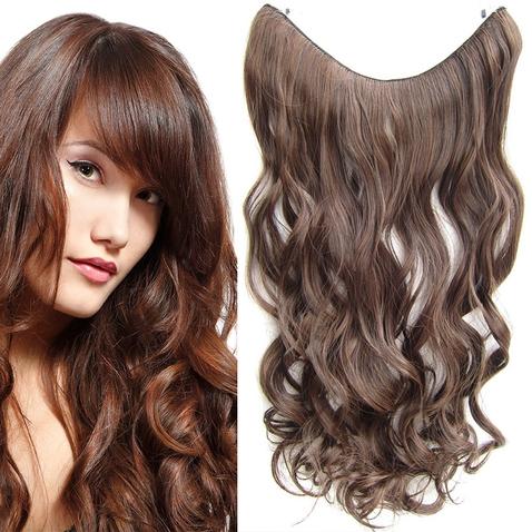 Flip in vlasy - vlnitý pás vlasov 55 cm - odtieň M2/30