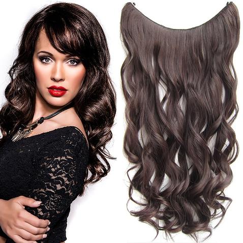 Flip in vlasy - vlnitý pás vlasov 55 cm - odtieň M2/33