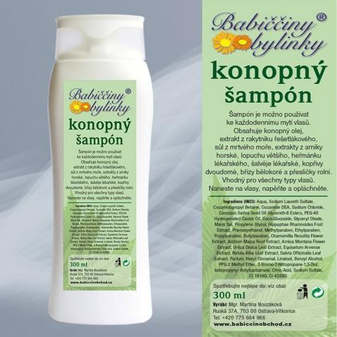 Šampón s konopným olejom - 300ml