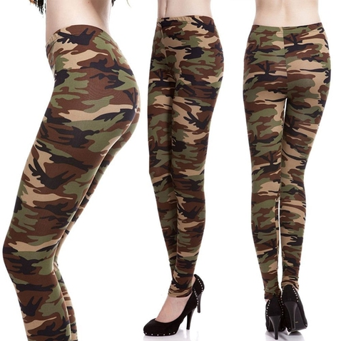 Bavlnené army legíny - Sand Camouflage