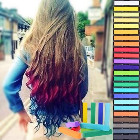 Farebné kriedy na vlasy - sada 24 ks
