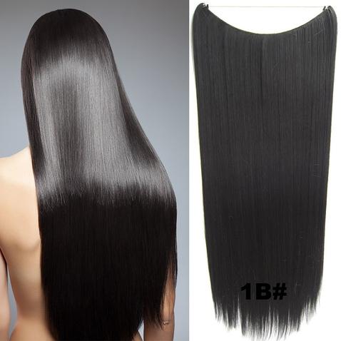 Flip in vlasy - 60 cm dlhý pás vlasov - odtieň 1B