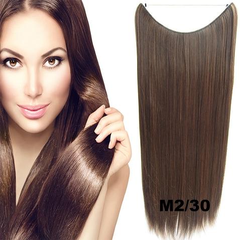 Flip in vlasy - 60 cm dlhý pás vlasov - odtieň M2 / 30