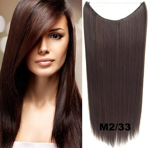 Flip in vlasy - 60 cm dlhý pás vlasov - odtieň M2 / 33