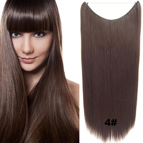 Flip in vlasy - 60 cm dlhý pás vlasov - odtieň 4