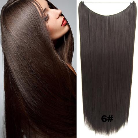 Flip in vlasy - 60 cm dlhý pás vlasov - odtieň 6