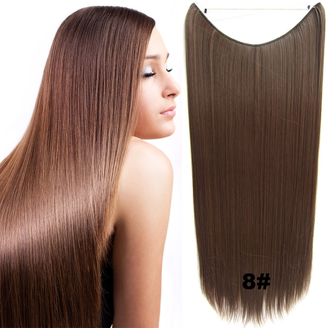 Flip in vlasy - 60 cm dlhý pás vlasov - odtieň 8