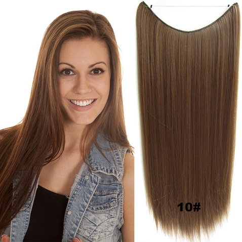 Flip in vlasy - 60 cm dlhý pás vlasov - odtieň 10
