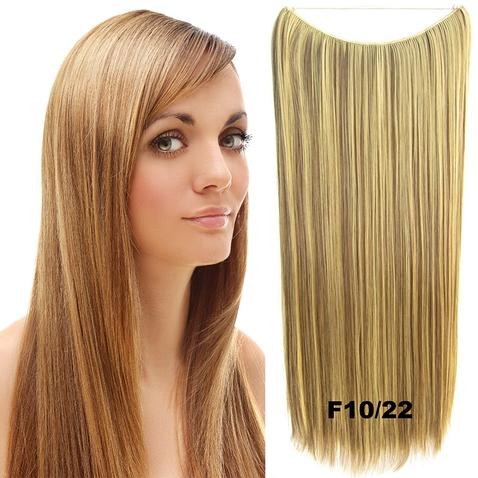 Flip in vlasy - 60 cm dlhý pás vlasov - odtieň F10 / 22