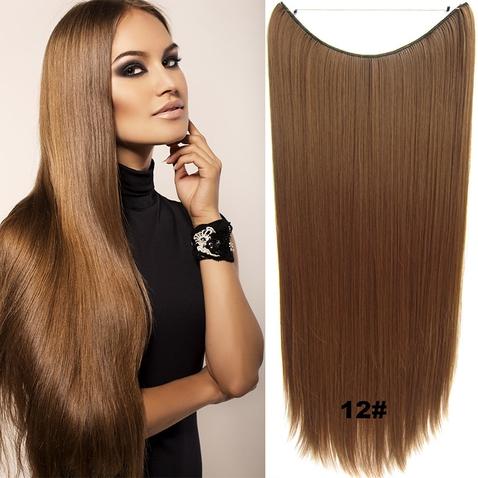 Flip in vlasy - 60 cm dlhý pás vlasov - odtieň 12
