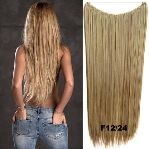 Flip in vlasy - 60 cm dlhý pás vlasov - odtieň F12 / 24