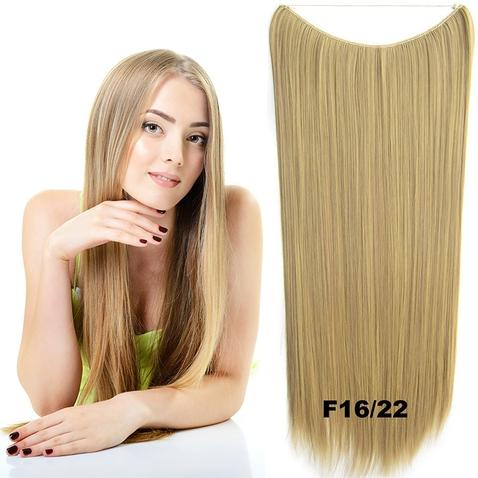 Flip in vlasy - 60 cm dlhý pás vlasov - odtieň F 16/22