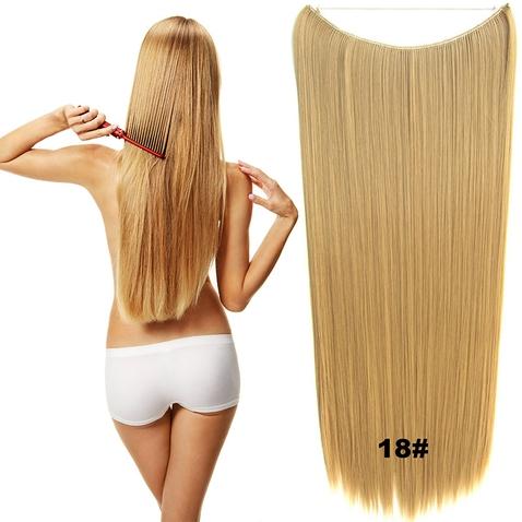Flip in vlasy - 60 cm dlhý pás vlasov - odtieň 18