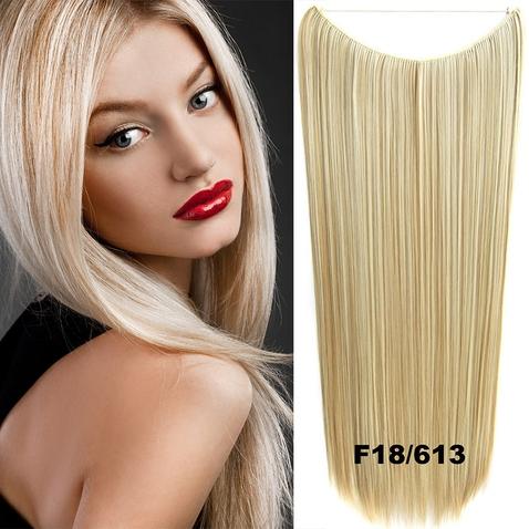 Flip in vlasy - 60 cm dlhý pás vlasov - odtieň F18 / 613