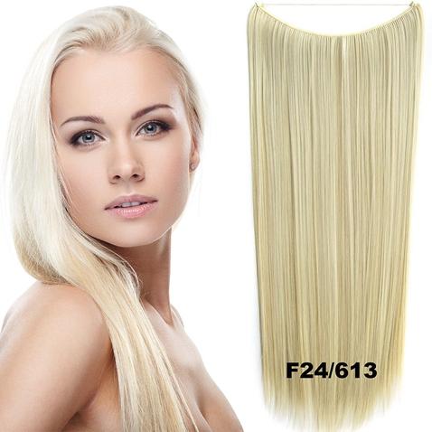 Flip in vlasy - 60 cm dlhý pás vlasov - odtieň F24 / 613